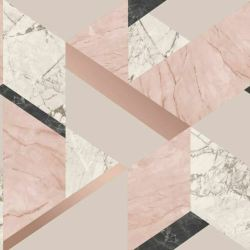 Fine Decor FD42303 Marblesque Geometric Wallpaper Blush Pink and Rose Gold for sale online eBay