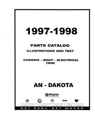 1997 1998 Dodge Dakota Part Numbers Book List Interchange