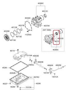 Automatic Trans Ouput Shaft Seal Genuine Kia 452654C000