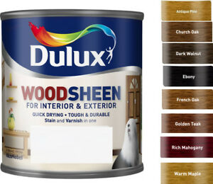 Dulux Woodsheen All In One Stain Amp Varnish 250ml In