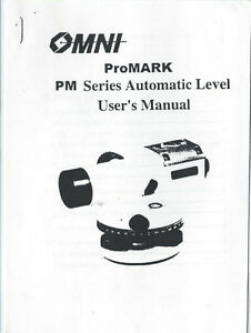 New OMNI ProMARK PM Series Automatic Level User's Manual