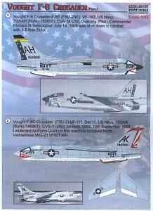 Vought F-8 Crusader : vought, crusader, Imprimir, Adesivos, Escala, Vought, Crusader, Fighter
