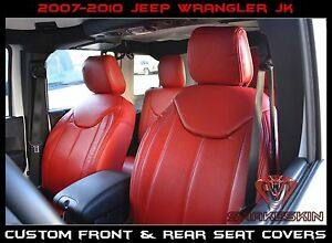 20072010 Jeep Wrangler Jk Front & Rear Syn Seat Covers