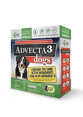Advecta 3 For Dogs : advecta, Advecta, Medium, 11-20, 12Month, Supply, 818145016820