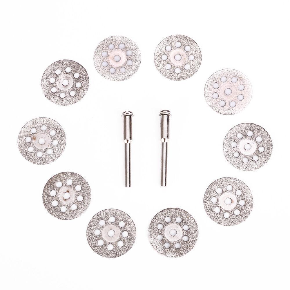 10pc 22mm Diamond Cut Off Wheel Cutting Disc Fits Dremel