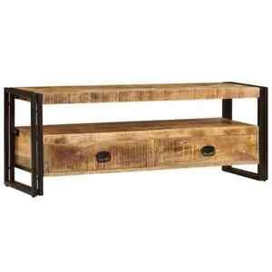 details sur vidaxl bois massif de manguier meuble tv support tv armoire de television