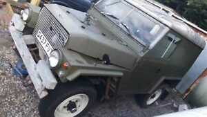 "1985 LANDROVER LIGHT WEIGHT 4X4 UTILITY 88"" DIESEL 2286CC GALVANISED CHASSIS"