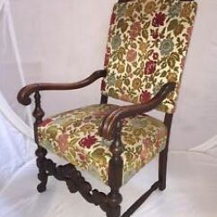 High Backed Throne Chair Electric Recliner Covers Australia Antique Carved Victorian Empire Wood Back King Queen Arm Image Is Loading