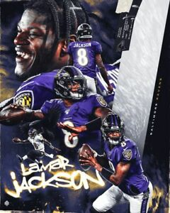 details about lamar jackson ravens poster wall art home photo print 24 x 30 inch 6