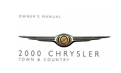 2000 Chrysler Town & Country Owners Manual User Guide