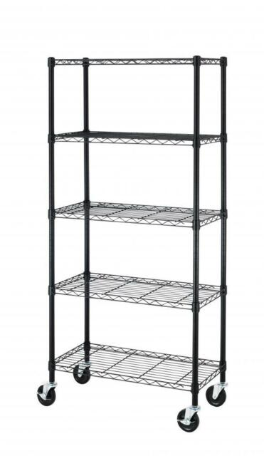 5 Tier Shelf Adjustable Steel Metal Wire Shelving Storage