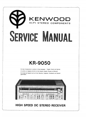 Kenwood KR-9050 Hi/Fi Stereo Service Owners User Operating