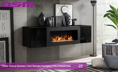 television table avec ethanol cheminee lowboard tv board meuble fly sbk zz laque ebay