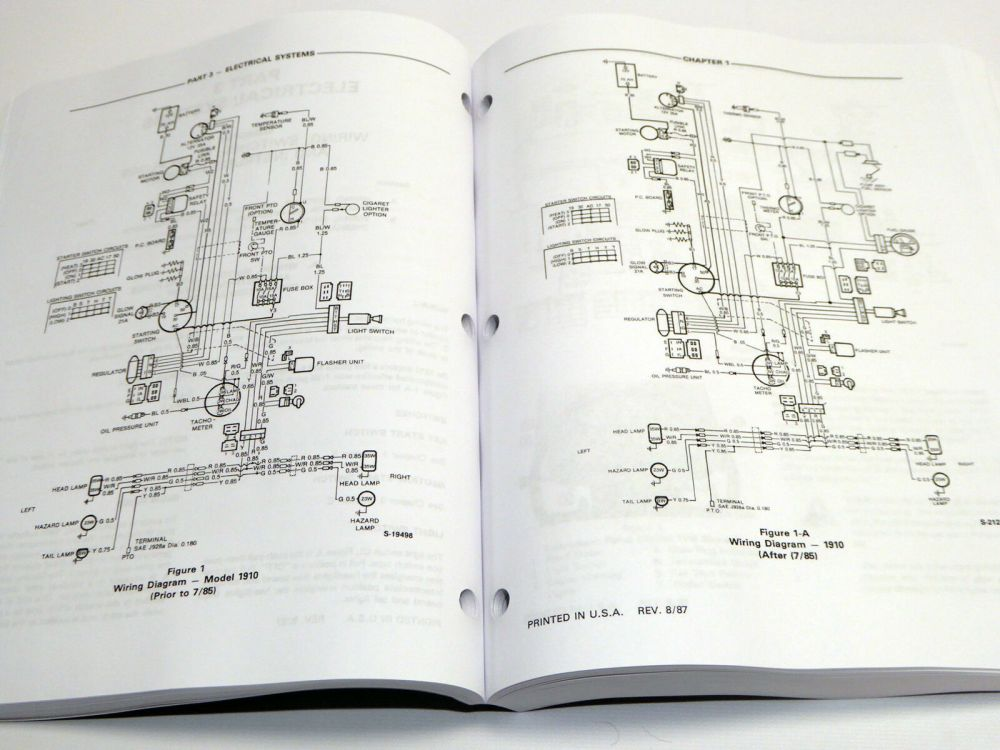 medium resolution of ford 1010 series 1910 2110 tractor service manual repair shop book w 1700 ford tractor wiring diagram 1910 ford tractor electrical wiring diagram