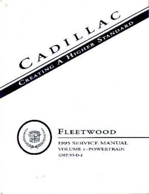 1995 Cadillac Fleetwood Shop Service Repair Manual Engine