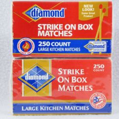 Kitchen Matches Drawer Organizers Diamond Strike Anywhere 250 Count Large Ebay