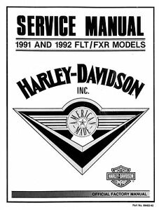 Harley Davidson 1991 1992 FLT FXR models service manual on