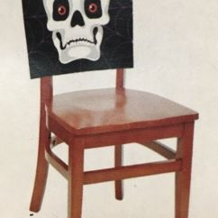 Skull Chair George Nakashima Set Of 3 Cover Halloween Decor Party Bones Haunted House Seat
