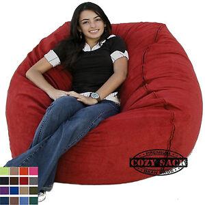 buckskin sofa fold away bed mattress large bean bag chair factory direct cozy sack 4' foam ...