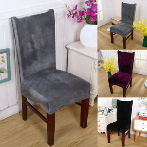 dining chair covers velvet should i get for my wedding 1 2 4 6pcs soft stretch room home image is loading