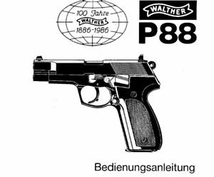 Walther P88 9mm Owners Instruction and Maintenance Manual
