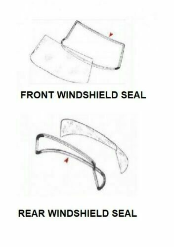 FRONT AND REAR Rubber WINDOW WINDSHIELD Seal Set Mercedes