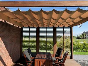 details about tailor made custom made horizontal roman blind rolled extended sun sail