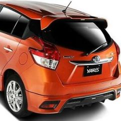 Toyota Yaris Trd Spoiler Grand New Veloz Warna Merah Mit Asia Hatchback 2014 On Abs Rear Roof Image Is Loading