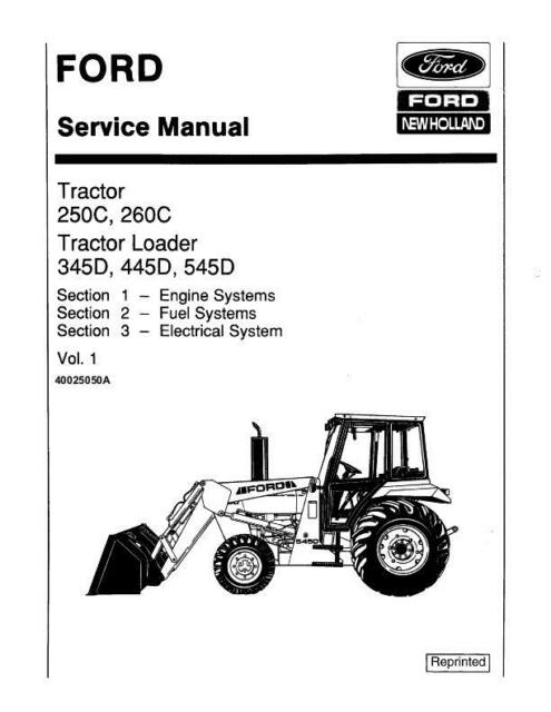 Ford Holland 250c 260c 345d 445d 545d Tractor Loader