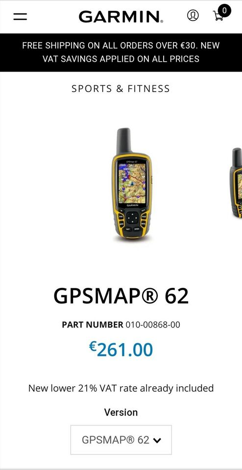 Like new GARMIN GPSMAP 62 w... – dba.dk