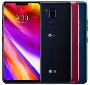 LG G7+ ThinQ 128GB G710EAW (FACTORY UNLOCKED) 6.1 Black Platinum Blue Raspberry