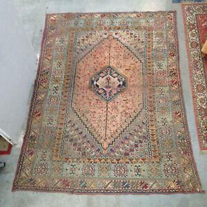 details sur tapis ancien tapis fait main tapisserie