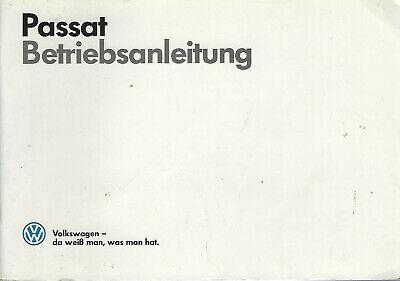 VW PASSAT b2 operating instructions 1987 Manual Handbook