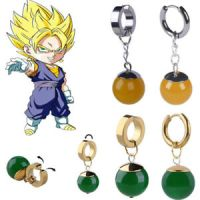 POTARA-styled Earrings Dragon Ball Earring Black Son Goku ...