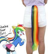 little pony tail rainbow dash