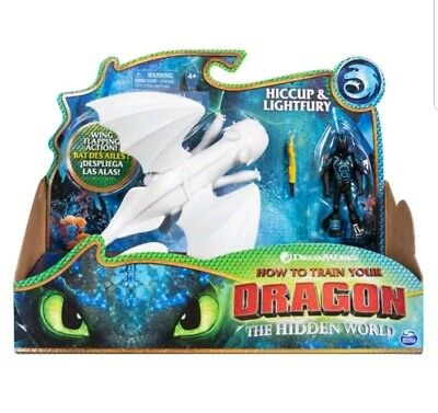 Httyd 3 Hiccup Lightfury White Toothless Hidden World How To Train Your Dragon Ebay