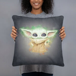 details about baby yoda pillow star wars the mandalorian tv