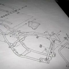 Harley Softail Frame Diagram 2003 Dodge Ram 1500 Window Wiring Davidson Swing Arm Blueprint Drawing Hd Poster Print Image Is Loading