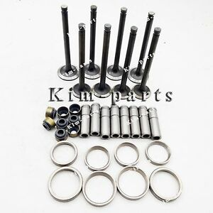 1 Set Engine Valve Guide Intake & Exhaust Valve for YANMAR