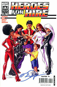 HEROES FOR HIRE #6 MISTY KNIGHT SIGNED BY ARTIST WILLIAM TUCCI