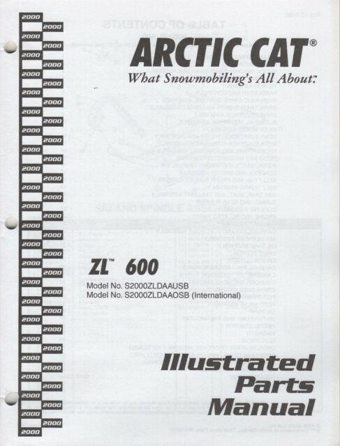 2000 ARCTIC CAT SNOWMOBILE ZL 600 PARTS MANUAL 2256-171