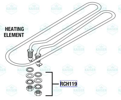 Heater Element Assembly MIH049 for Midmark Ritter M11 M11D