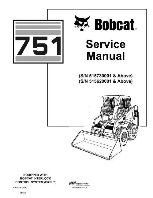 small resolution of new bobcat 751 skid steer loader 2006 edition service repair manualbobcat 751 parts diagram 7