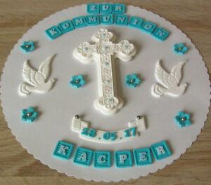 Taufe Kommunion Konfirmation Firmung Tortenaufleger