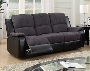 leona 3 seater recliner sofa twin bed sleeper black fabric reclining home design ideas grey high quality manual suite