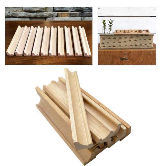 1 to 8pcs wood scrabble tile racks