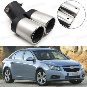 details about car exhaust muffler tip tailpipe end trim silver for chevy cruze 2009 2015 1018