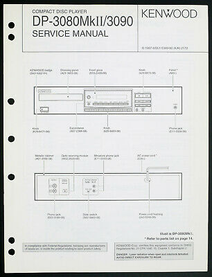 Kenwood Dp-3080mkii/3090 Original CD Player Service Manual