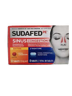 Sudafed PE Sinus Congestion Day + Night Decongestant ...