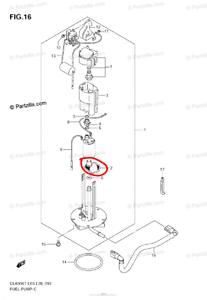 FILTRO POMPA BENZINA SUZUKI GSF GSX-R DL650 V-STROM 1000